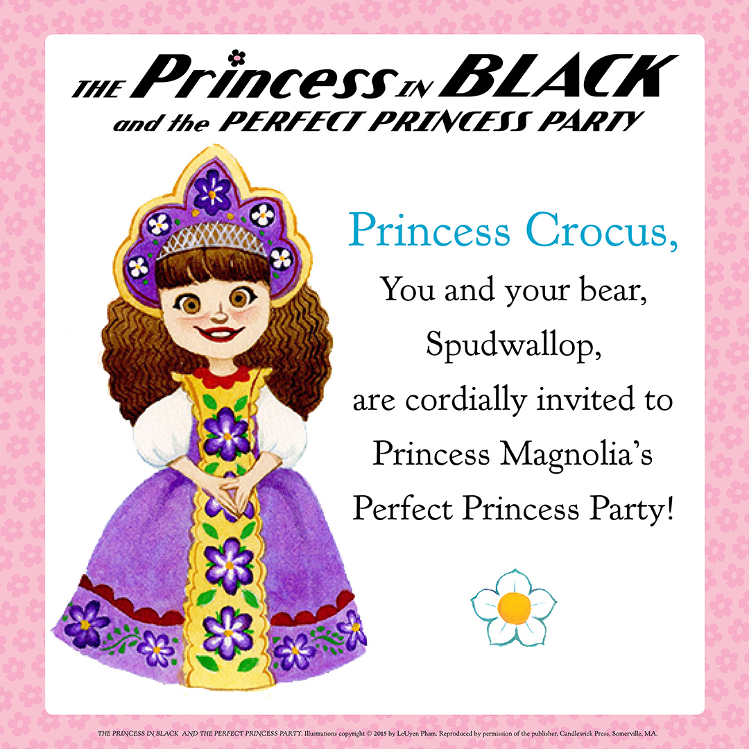 squeetus: The Princess in Black party invitations