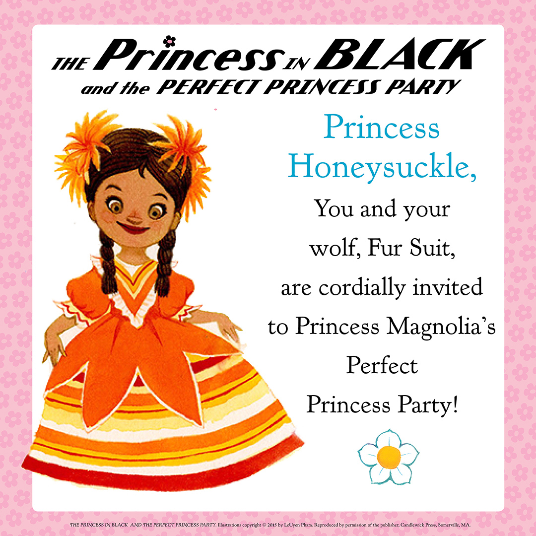 squeetus the princess in black party invitations